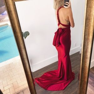 Backless Evening gown multi-way prom wedding gala